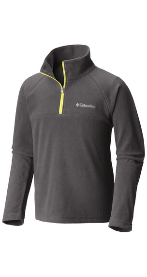 Columbia Glacial Half Zip Boys Shark/Acid Yellow